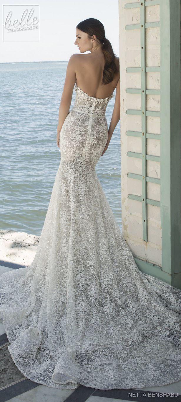 Lace wedding dress cheap december 2018 Netta BenShabu Wedding Dress Collection  Une Fleur Sauvage in