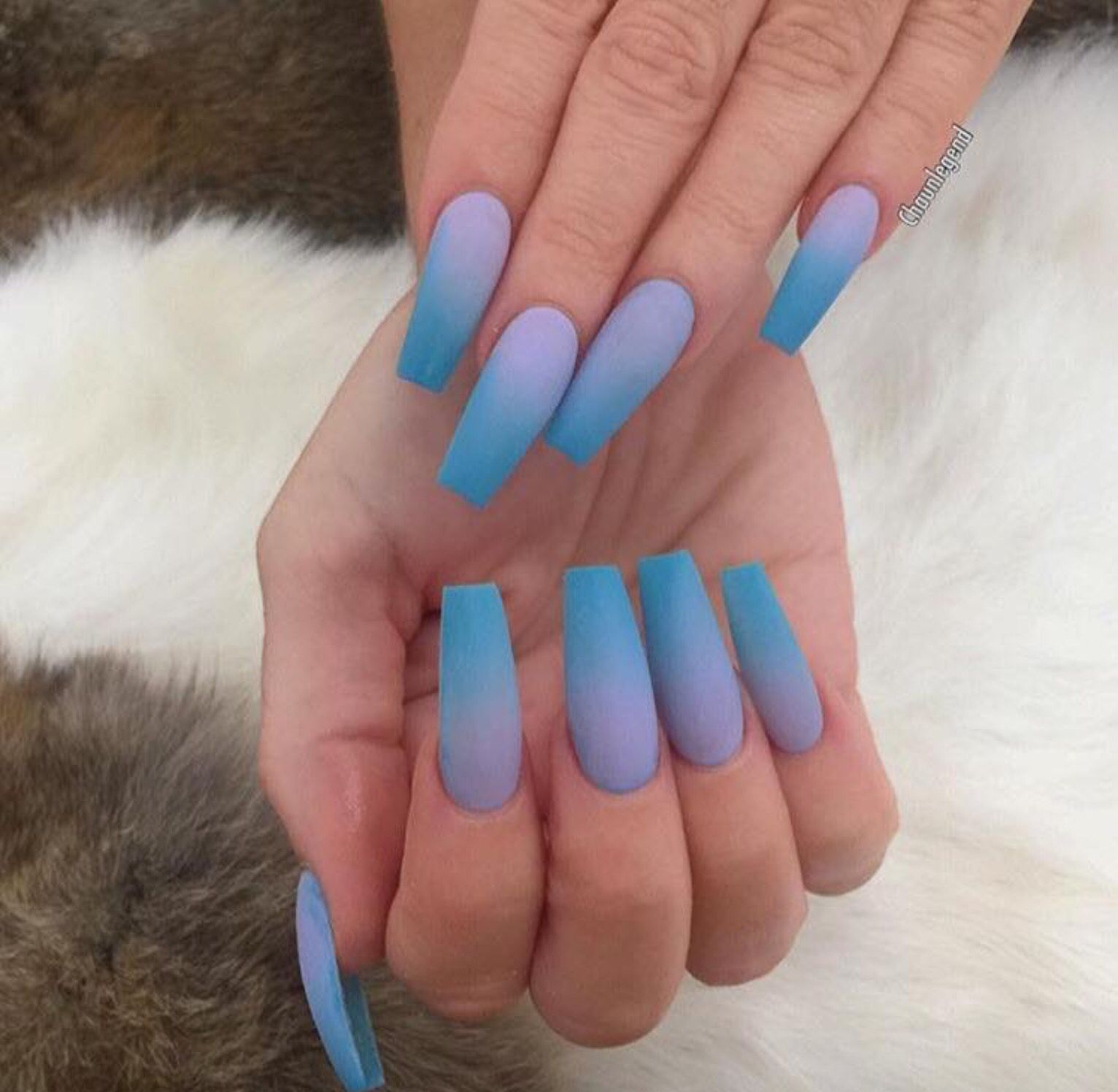 2 Toned Ombre Nails Faded Nails Acrylic Nails Coffin Ombre Powder Nails