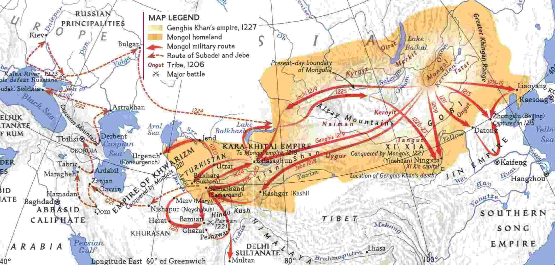 genghis khan s empire the increasing wealth along the genghis khan s empire 1227 the increasing wealth along the trade routes and the abundance