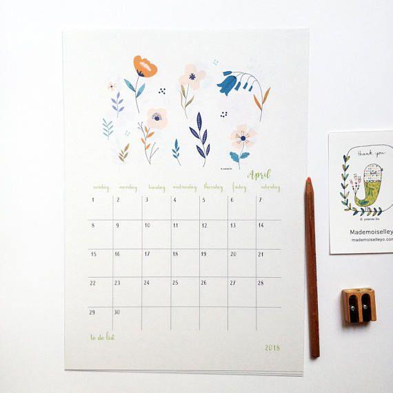 2018 Calendar 2018 Wall Calendar 2018 Calendar With A Planner