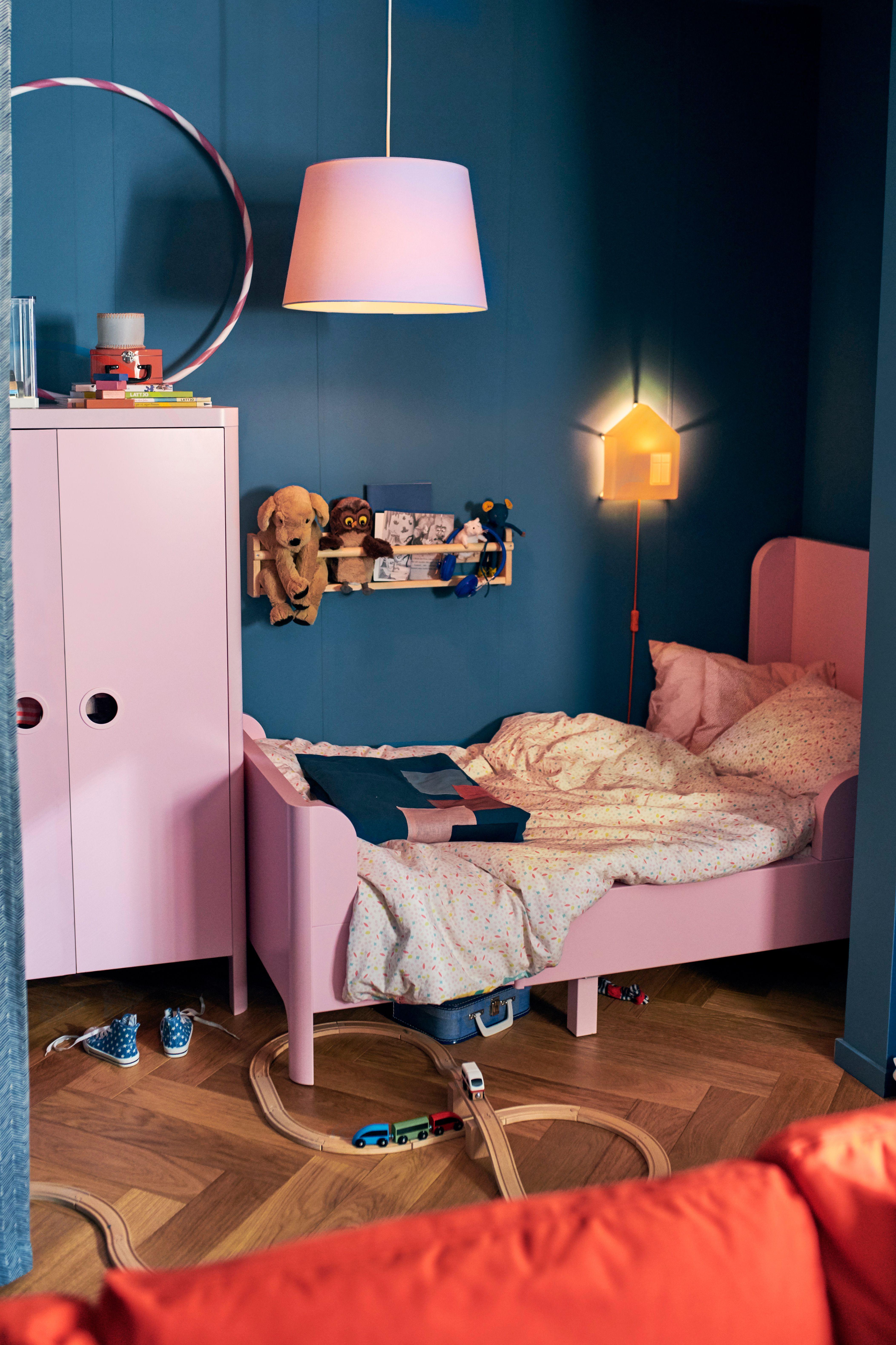 Busunge Bettgestell Ausziehbar Hellrosa Ikea Deutschland