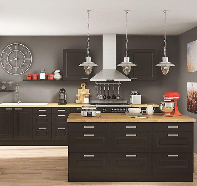 Cuisine petit prix en bois massif armoires de cuisine for Prix petite cuisine sur mesure