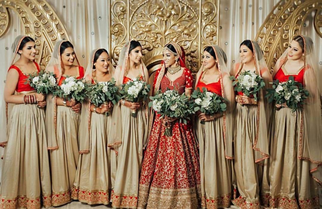 Repost Sundeepbhullar Get Repost My Girls Bhullartolally Photograph Indian Bridesmaid Dresses Indian Wedding Bridesmaids Indian Bridesmaids,Wedding Guest Petite Cocktail Dresses For Wedding