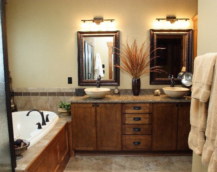 Elegant Country Style Bathroom Cabinets
