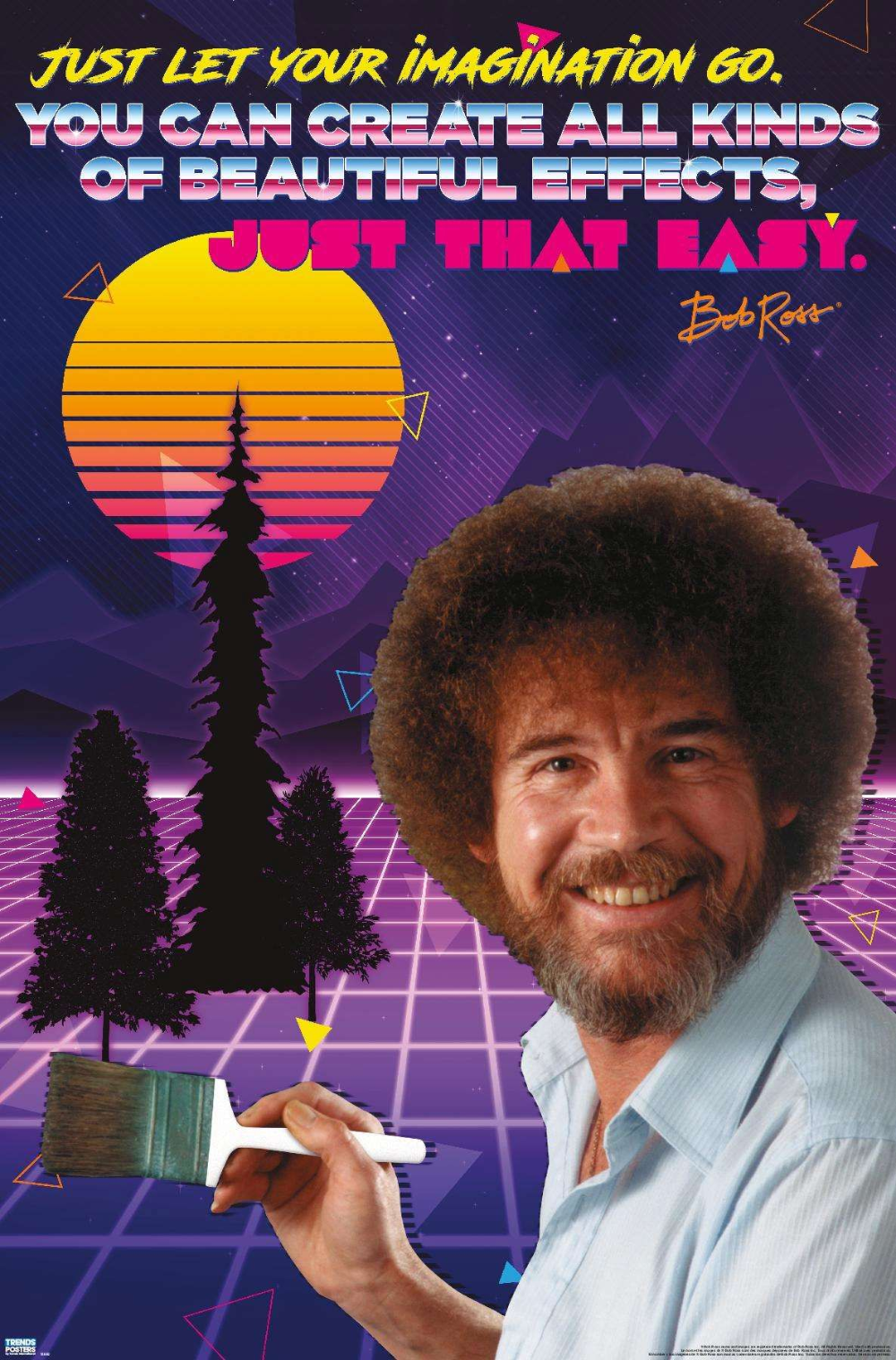 Bob Ross 80s Bob Ross Bob 80s Posters