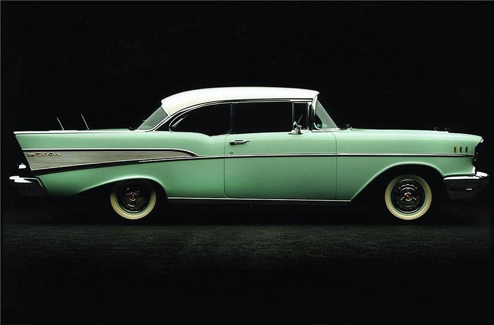 1957 Chevrolet Bel Air 2 Door Hardtop Side Profile 162880