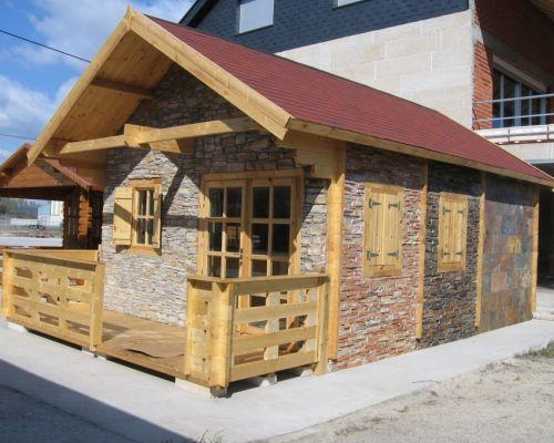 Casas de madera y piedra prefabricadas imagui casas for Casas de piedra y madera