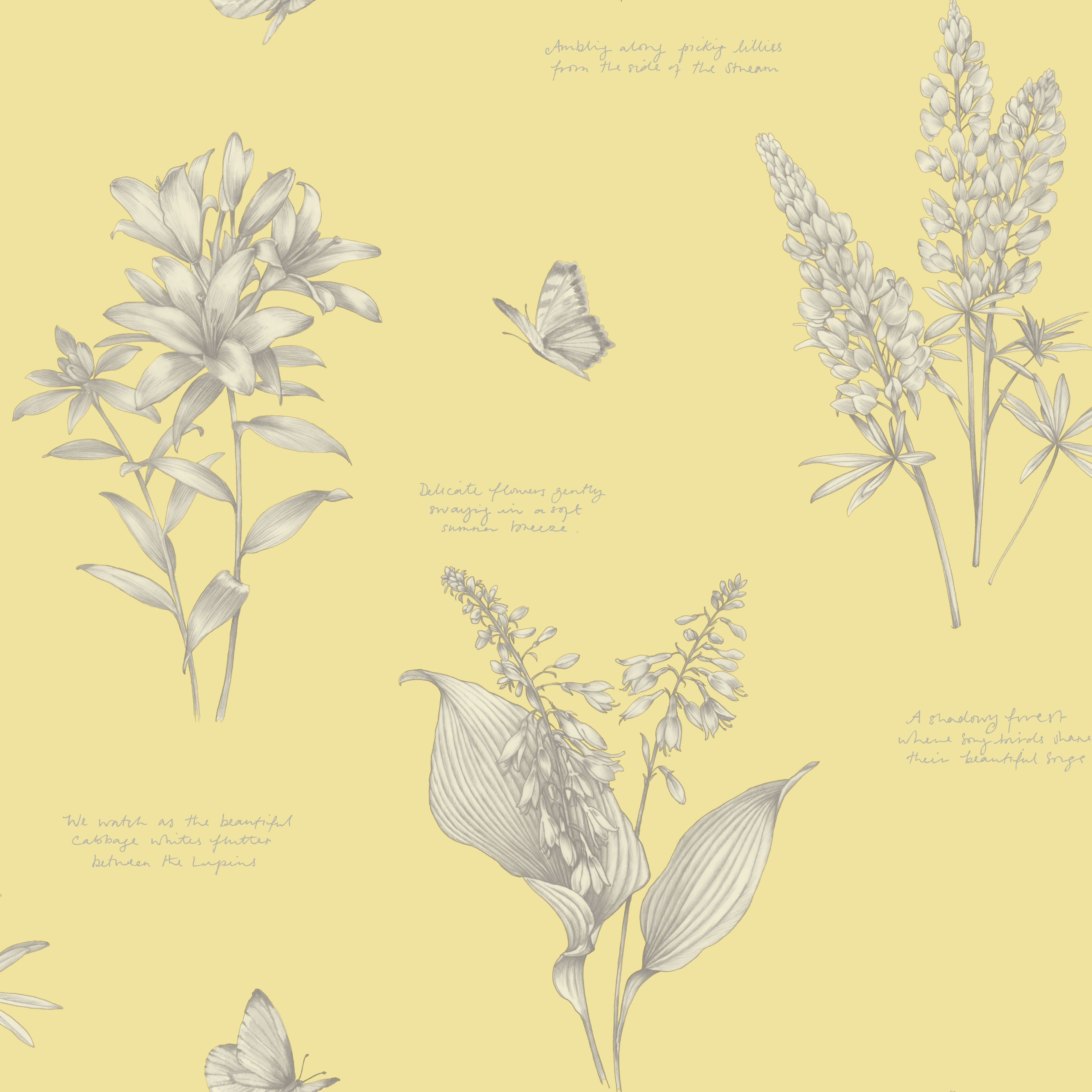 Yellow Kitchen Wallpaper Kitchen Cupboard Lining Pretty In Duck Egg Too Linnaeus Wheat