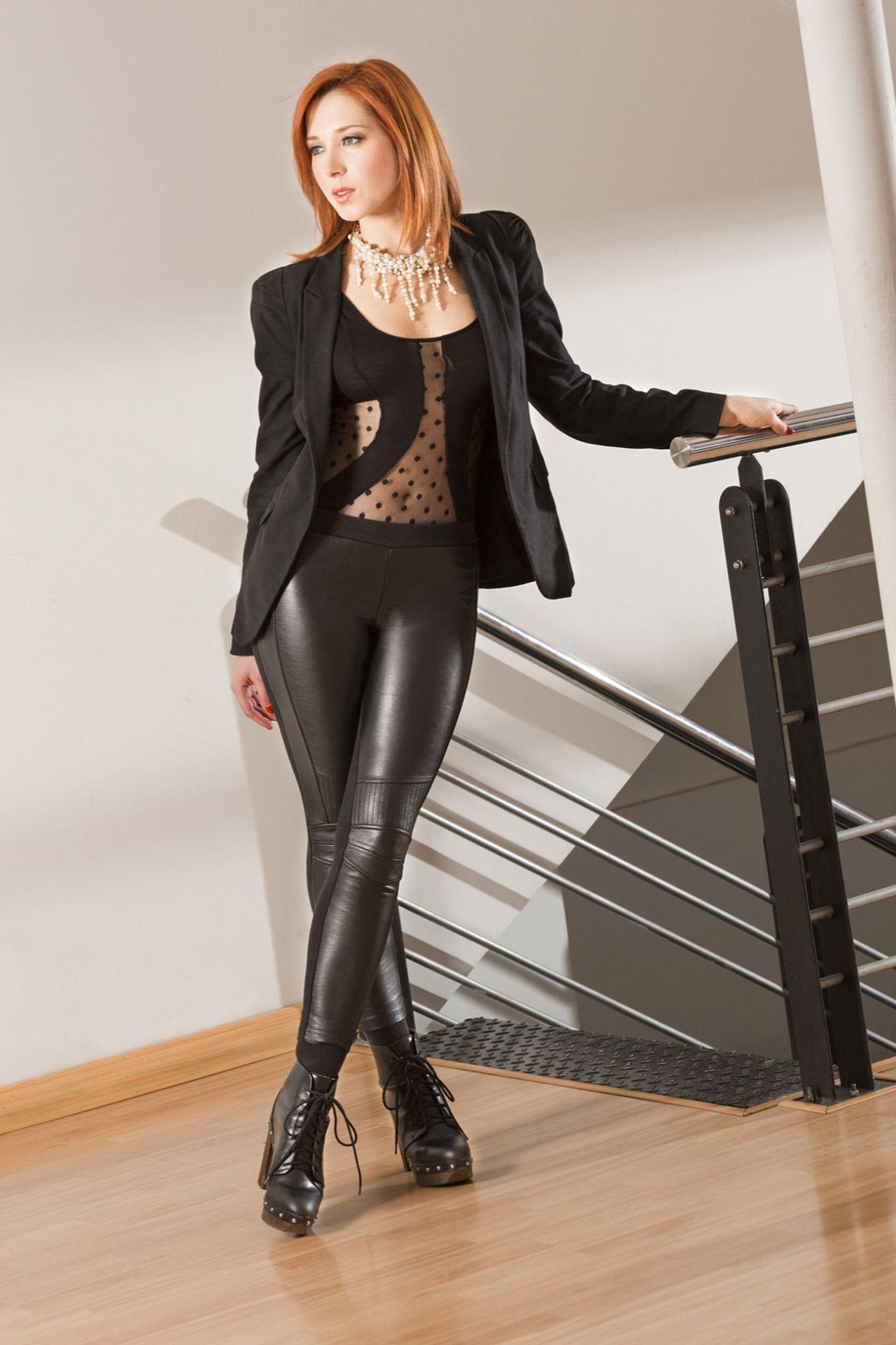 Leather leggings slut