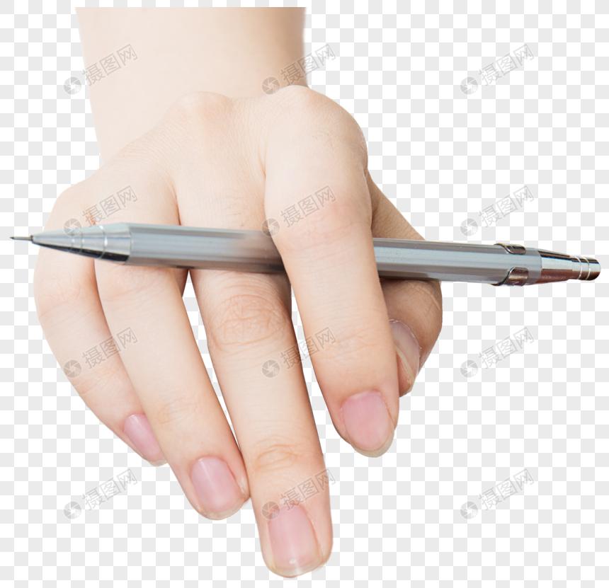 يد مع القلم Nails Pen Image