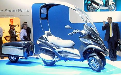 piaggio mp3 roof and trailer | piaggio mp3 | pinterest | scooters