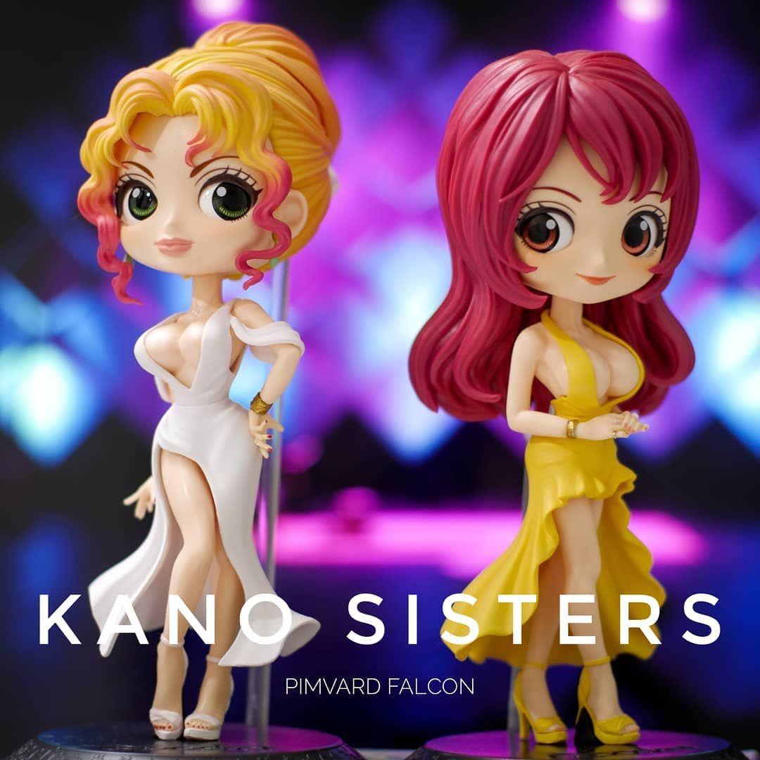 Q posket Kano Sisters fabulous Qposket KanoMika red dress set KanoKyoko