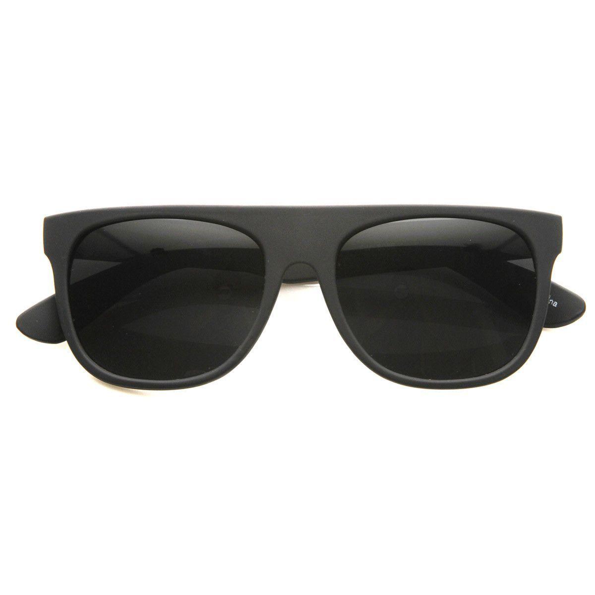 32429ff004 Modern Retro Flat-Top Aviator Style Sunglasses Super Flat Clean Shades