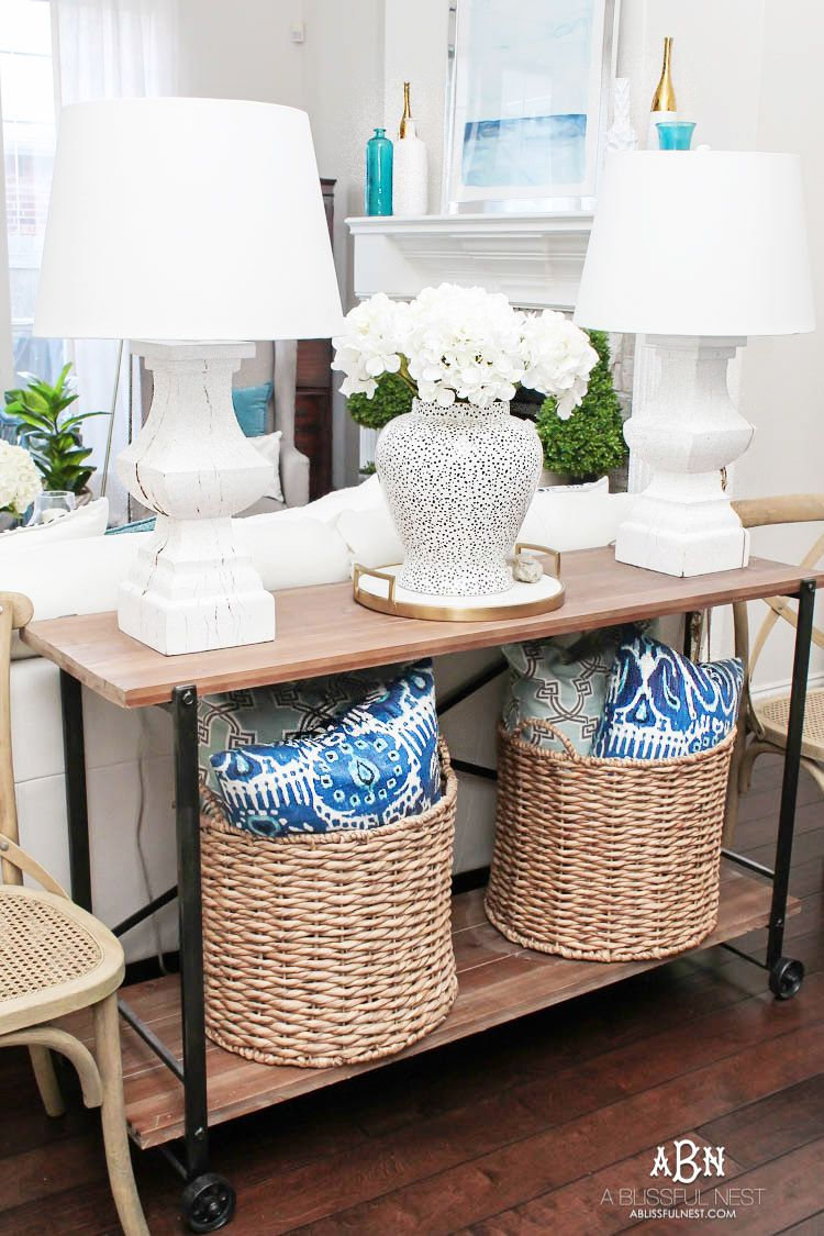 this gorgeous summer home tour is full of coastal accents and beautiful blue and white accents shop this tour with our custom shopping guide