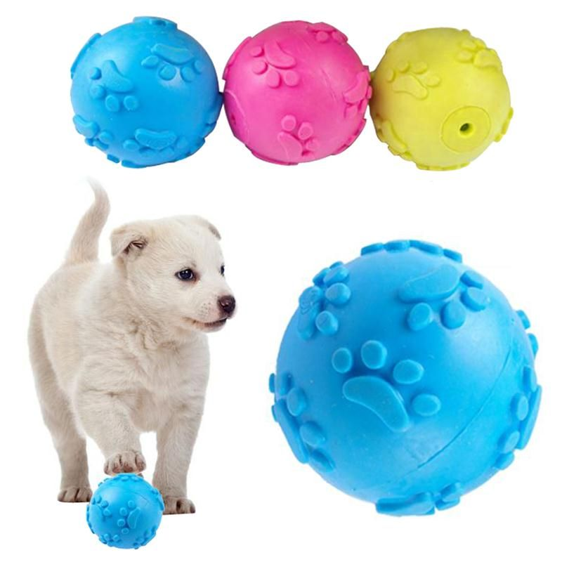 147b208f2ab35 Encontrar Más Juguetes para Perros Información acerca de 3 Color de Mordida  de Los Dientes De Goma Cat Dog Play Ball Productos Juguetes Interactivos