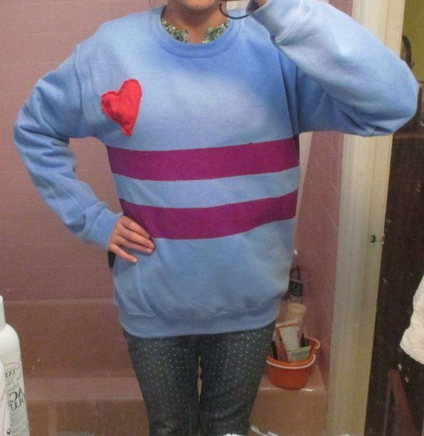 Frisk T Shirt Roblox Diy Undertale Frisk Cosplay Without Knitting Easy Cosplay Casual Cosplay Cosplay Outfits