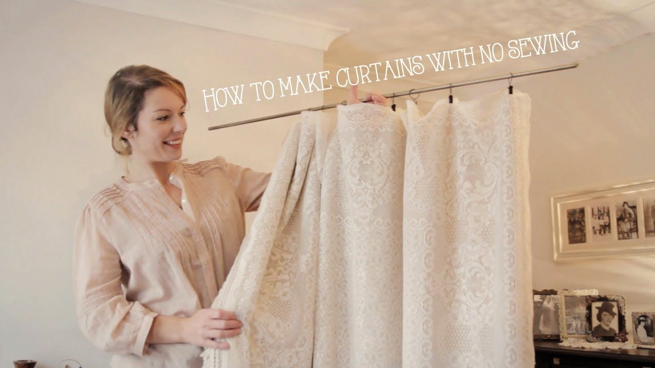 how to make a valance without sewing