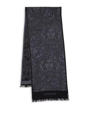 77a9b703e7 VERSACE Sciarpa Wool Scarf. #versace #scarf | Versace Men | Versace ...