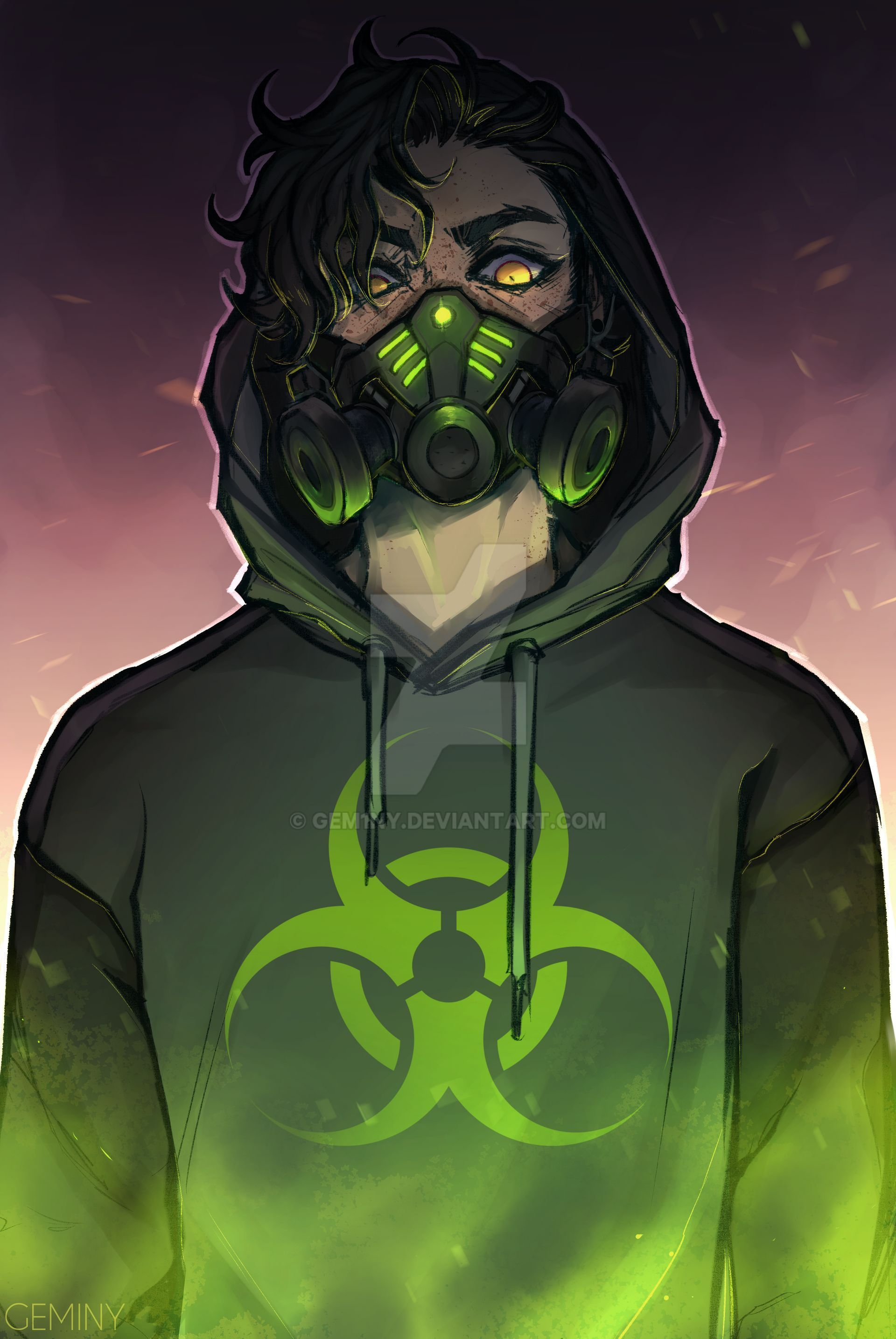 Toxic Speedpaint Remake By Gem1ny On Deviantart In 2020 Anime Drawings Boy Dark Anime Guys Anime Character Design