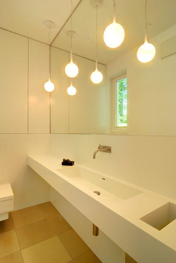 Pendelleuchte Bad bad waschtisch design pendelleuchten spiegel armatur corian