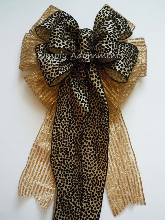 Great Animal Print Christmas Bow By SimplyAdornmentsss