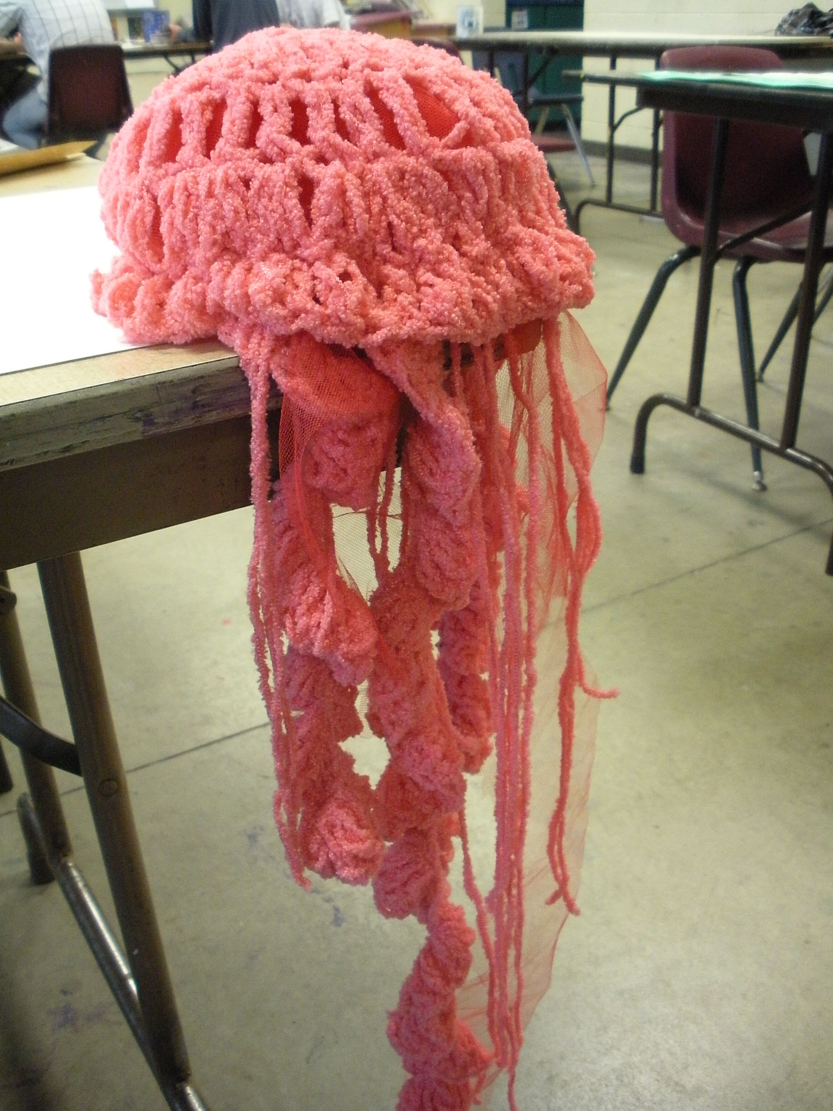 Crochet jellyfish hat my style pinterest crocheted crochet jellyfish hat bankloansurffo Choice Image