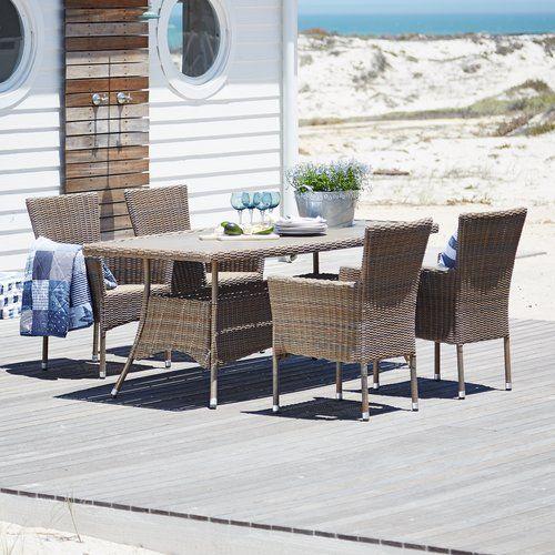 13608391ad7b Asztal SAGEBY h200cm+4 szék POLDEN | JYSK | Házunk | Szék, Asztal, Kert