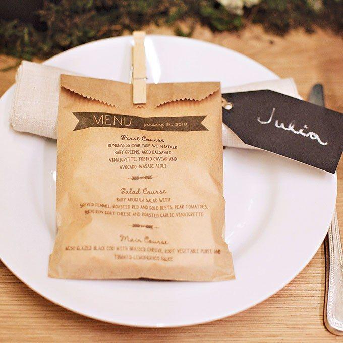 25 creative wedding menu card ideas  bryllup tema