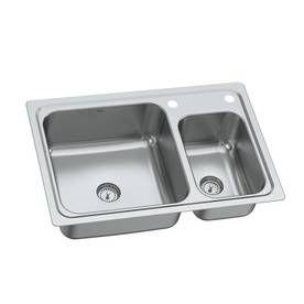 Moen Gibson 19-Gauge Double Basin Drop-In or Undermount Stainless ...