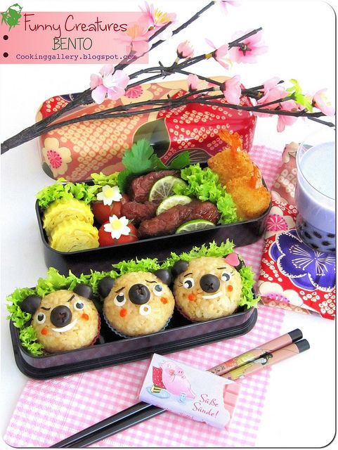 Funny Creatures Bento by Cooking-Gallery, via Flickr