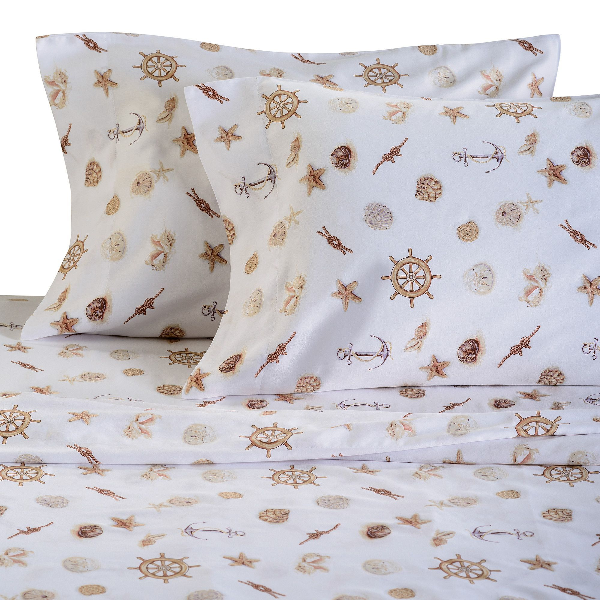 Nautical thread count cotton sheet set products pinterest