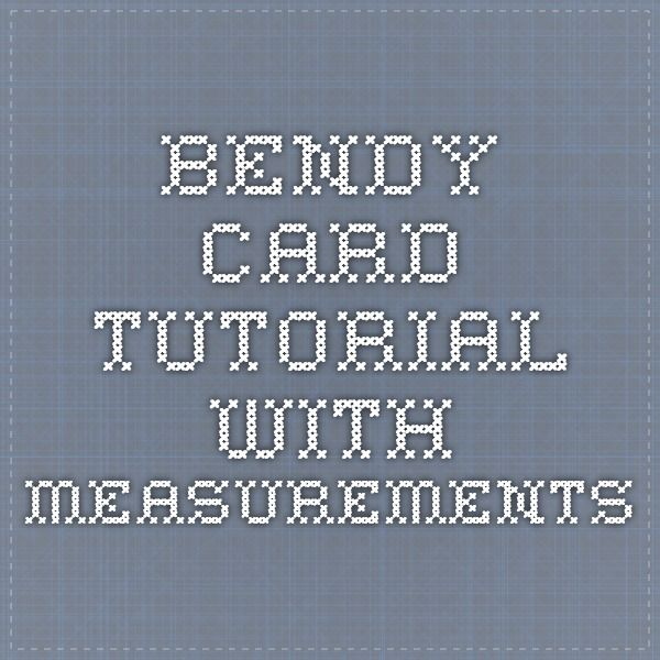 Bendy Card Tutorial With Measurements Fancy Fold Cards Card Tutorial Card Patterns