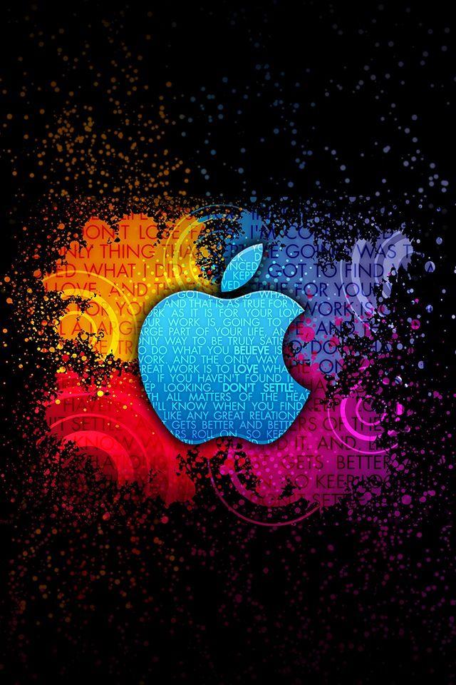 Apple Logo Colorful Words Apfel Hintergrund Cooler