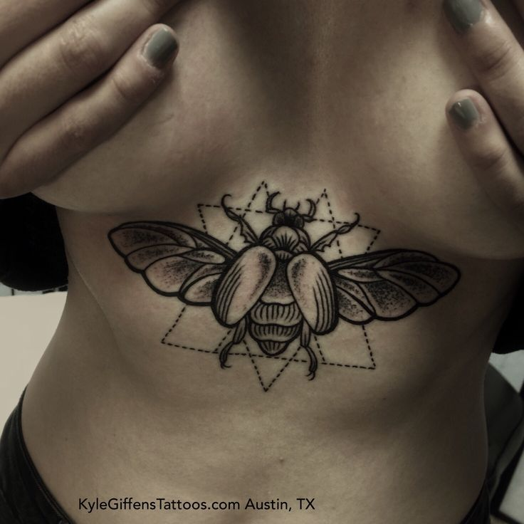 flying green june beetle tattoo - Google Search | medium