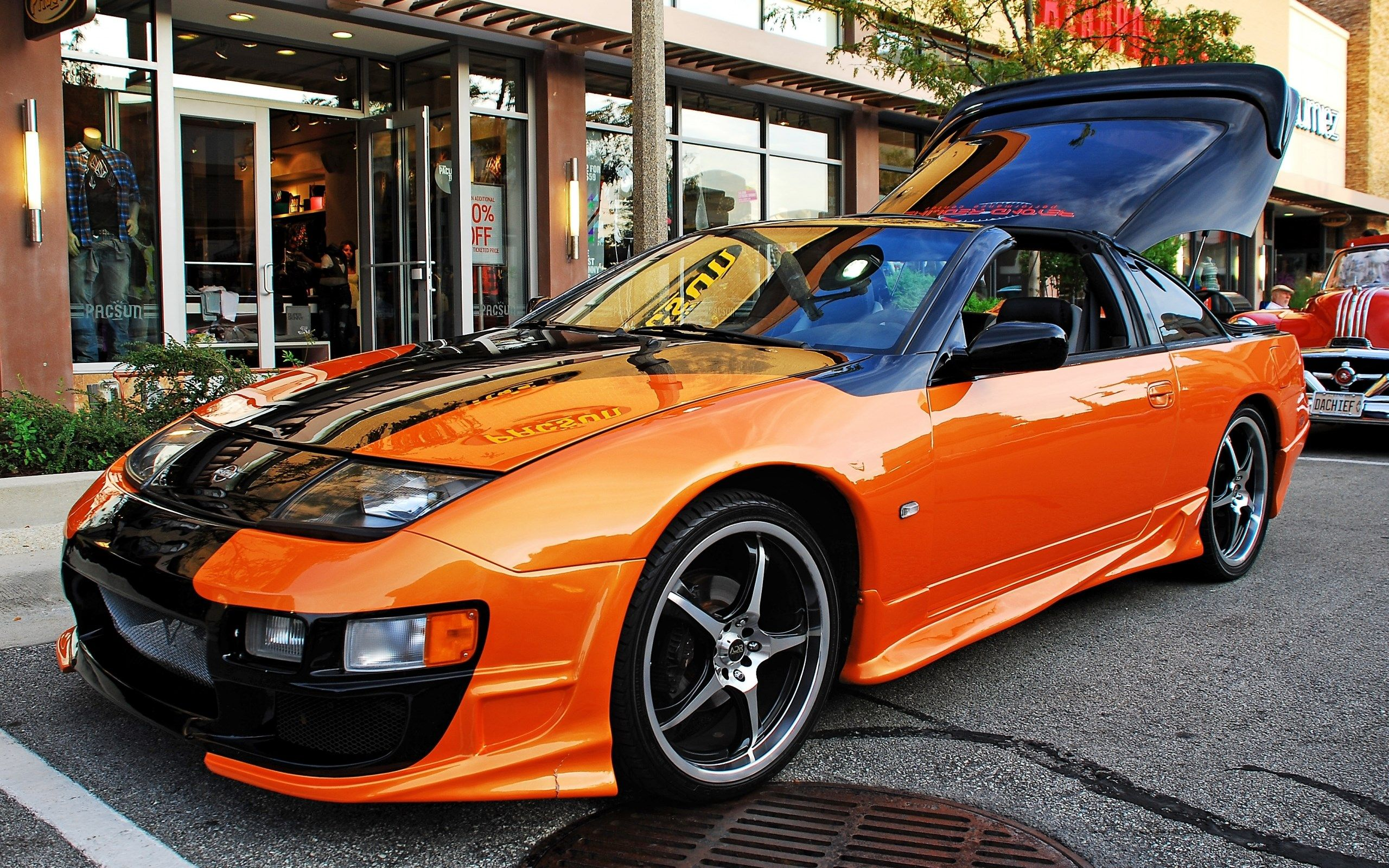 Amazing Orange Nissan 300zx Background