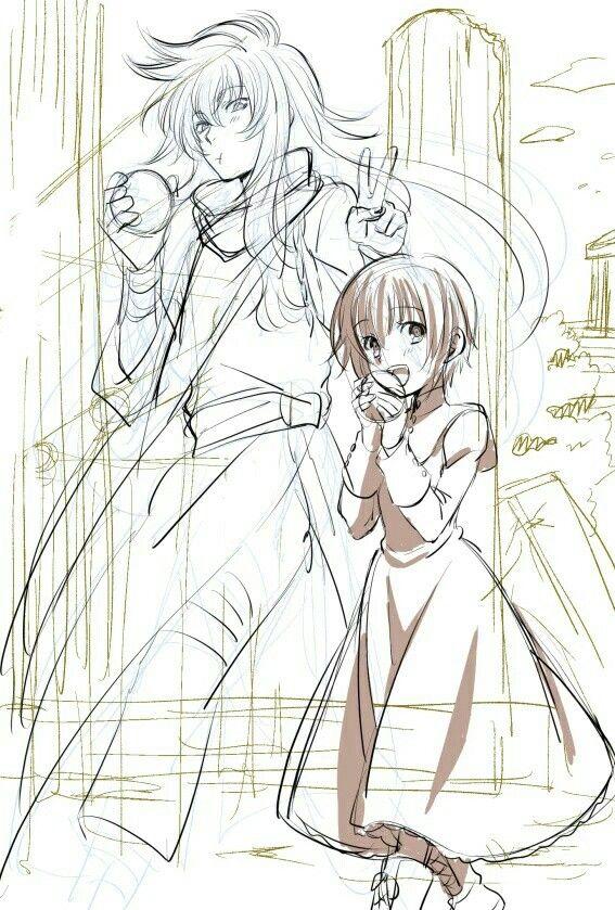 Saint seiya the lost canvas- Sasha and Kardia   Saint Seiya