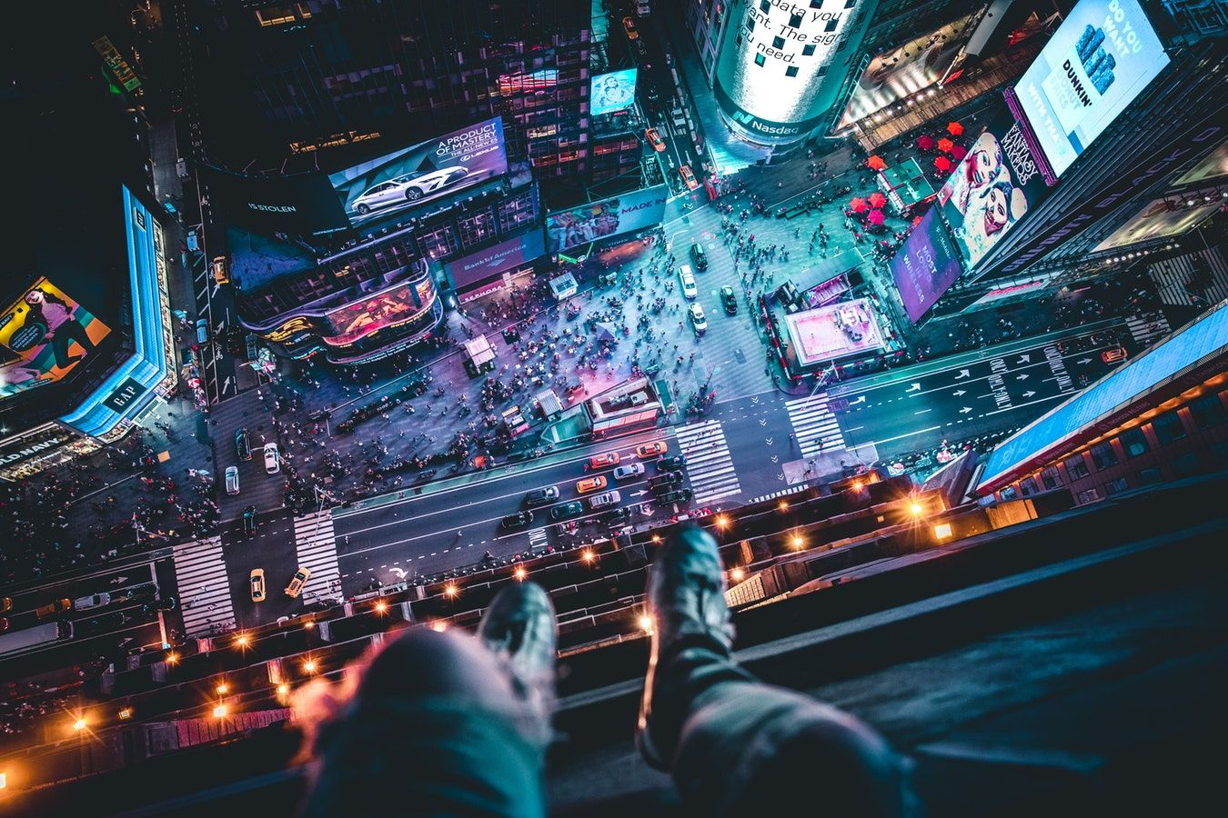 Hangin Above Time Square Photo By Andre Benz Trapnation On