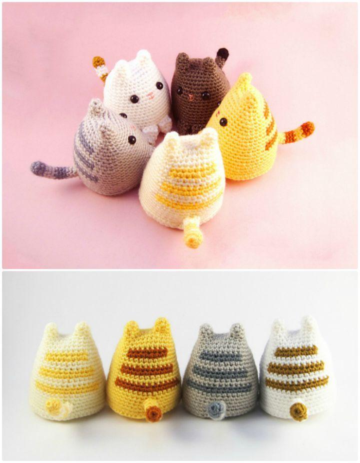 20 Free Crochet Cat Patterns - Crochet Cat Toys | Tejido, Juguetes ...