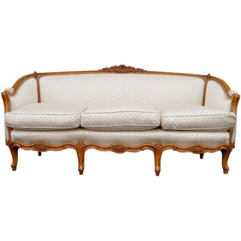 french country or louis xv style finely carved walnut sofa or canape rh pinterest co uk