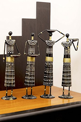 Cocovey Set Of 4 Wooden Handicraft Handmade Home Decor Items