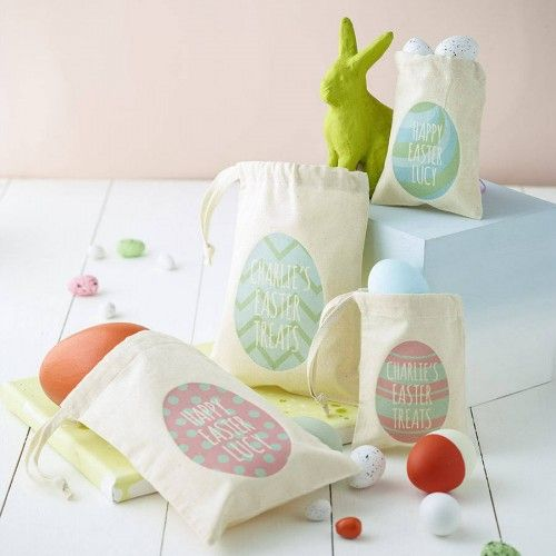 Personalised easter egg bag add a personal touch to easter this add a personal touch to easter this year with these very cute bespoke treat bags perfect for gifts and egg hunts negle Choice Image