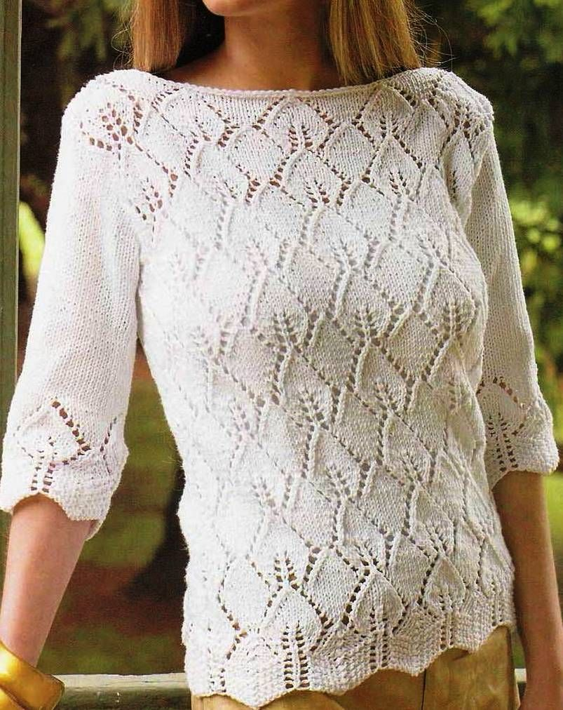 Patrones de Tejido Gratis: Jersey agujas | Knitting - Blouses ...