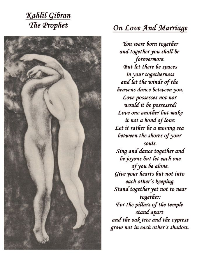 Kahlil Gi Ns Poetry About Love And Partnership