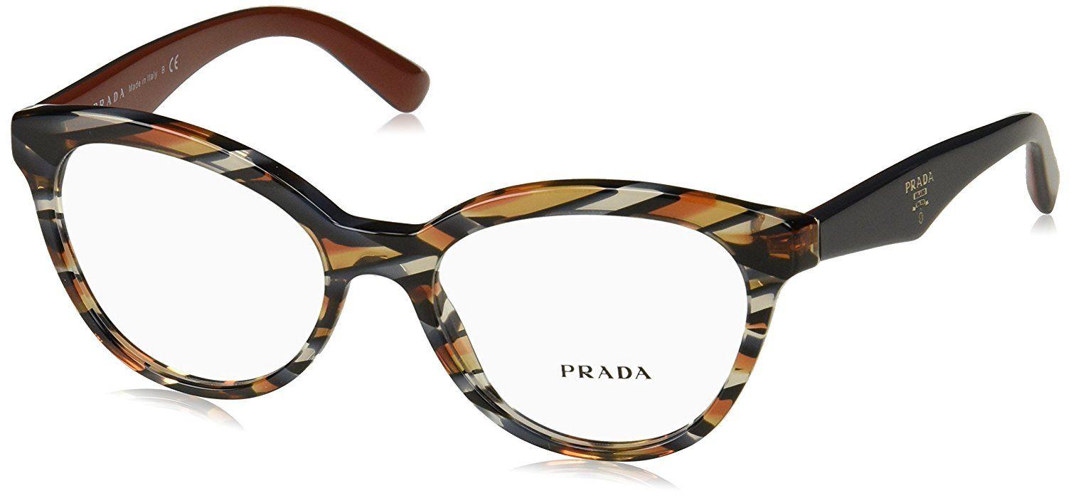 44bcc35026a4 Amazon.com  Prada TRIANGLE PR11RV Eyeglass Frames ROJ1O1-50 - Pink Havana  PR11RV-ROJ1O1-50  Shoes
