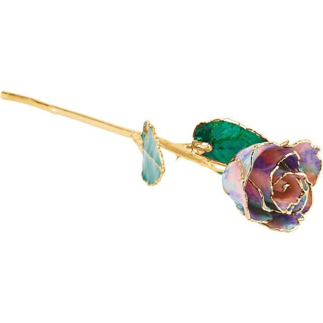 Gold dipped Rose, October Birthday, Opal Rose, Engagement gift, Anniversary Gift, Preserved Rose, Birthstone Rose, Birthday Rose, 24kt Rose
