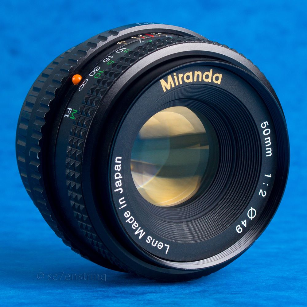 Miranda 50mm F2 0 Standard Prime Lens Pentax K Pk Dslr Adaptable Eos Mft Prime Lens Pentax Vintage Lenses