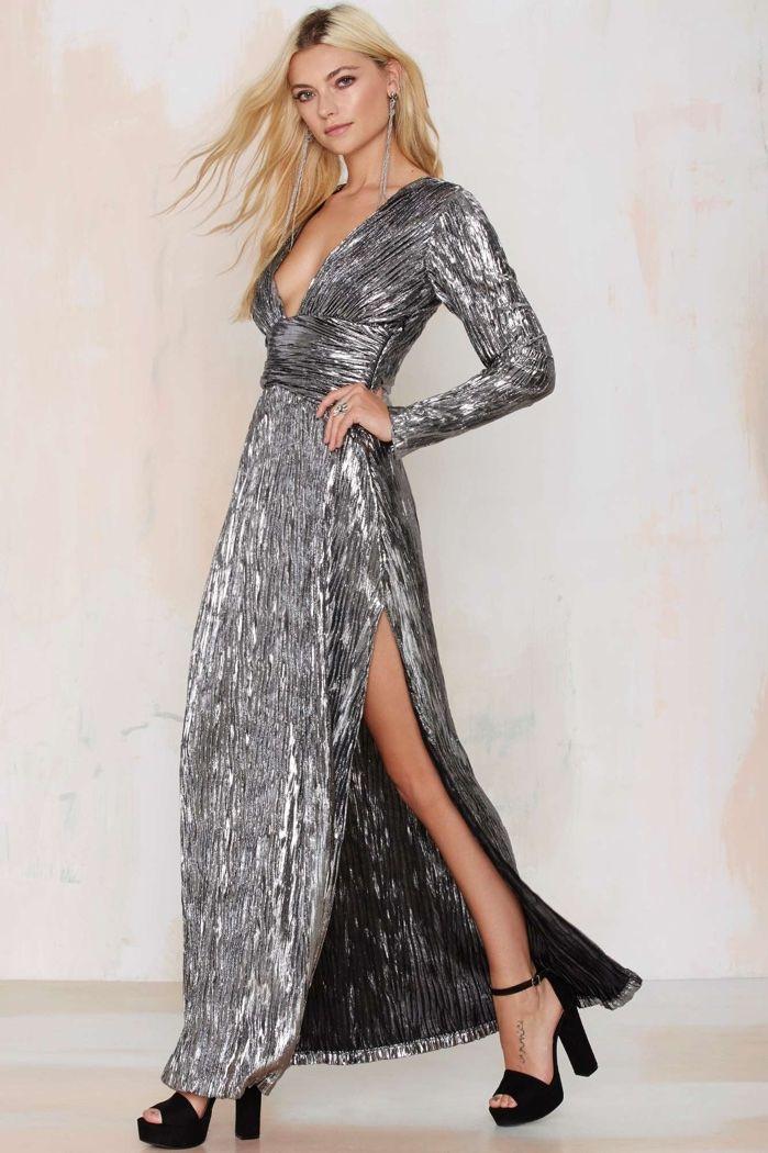5cde11c564 Women's Topshop Sequin Stripe Chiffon Maxi Dress, Size 2 US (fits ...