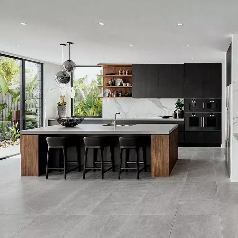 25 Innovative Black White Wood Kitchens Design Ideas Kitchendecor Kitchendesign Kitchenideas Kitchen Room Design Modern Kitchen Design Kitchen Design Color