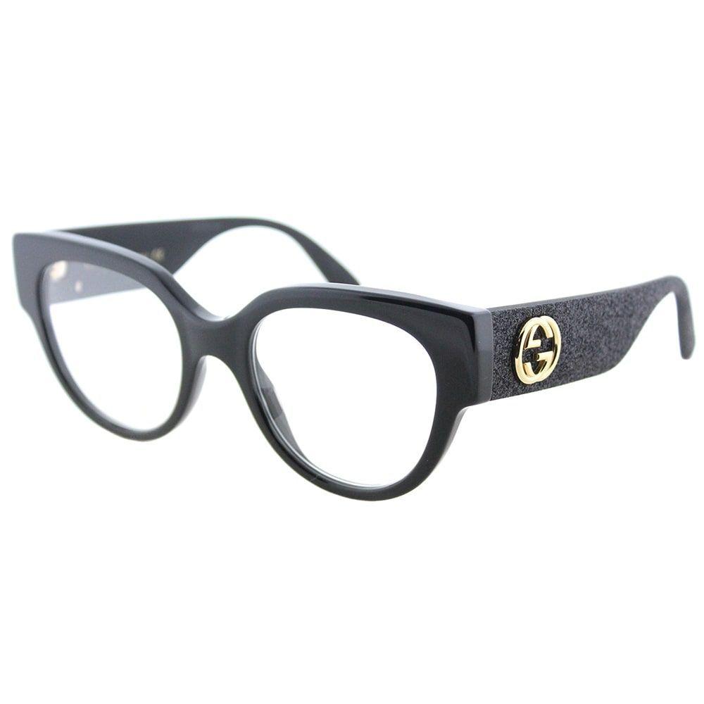 Gucci Cat-Eye GG 0103O 001 Women\'s Shiny Frame Eyeglasses | I was ...