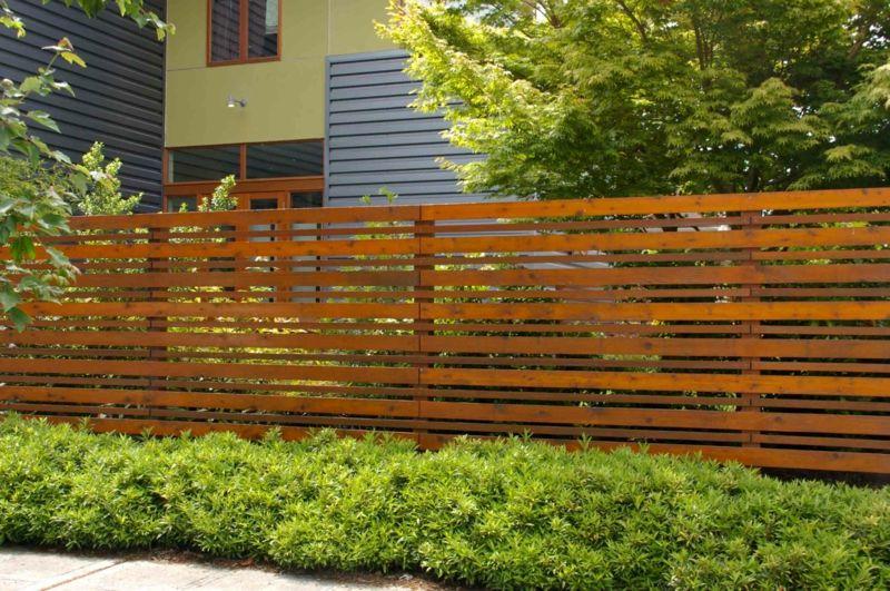 Terrassen » Garten Sichtschutz aus natürlichen Materialien- Holz - sichtschutz im garten modern